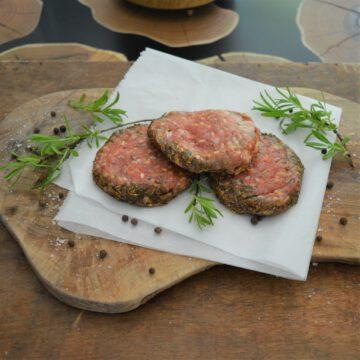 Lamsburgers Daan's Vlees